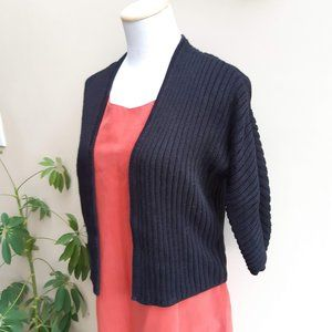 Black Cardigan | Crop Sweater | Worthington
